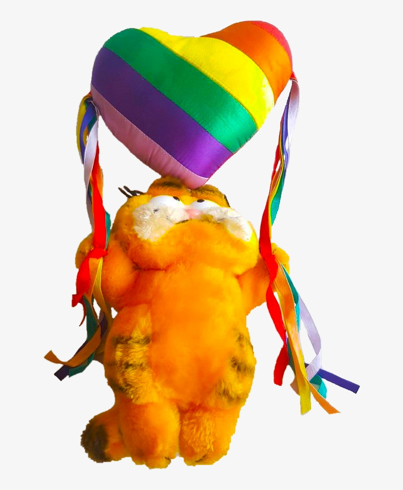 X Transparent Rainbowcore Rainbow Gay Pride Kidcore Gay Garfield Transparent Png 714x946 Free Download On Nicepng