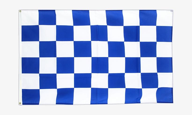 image about Checkered Flag Printable referred to as Enormous Flag Checkered Blue-white - Printable Checkered Flag
