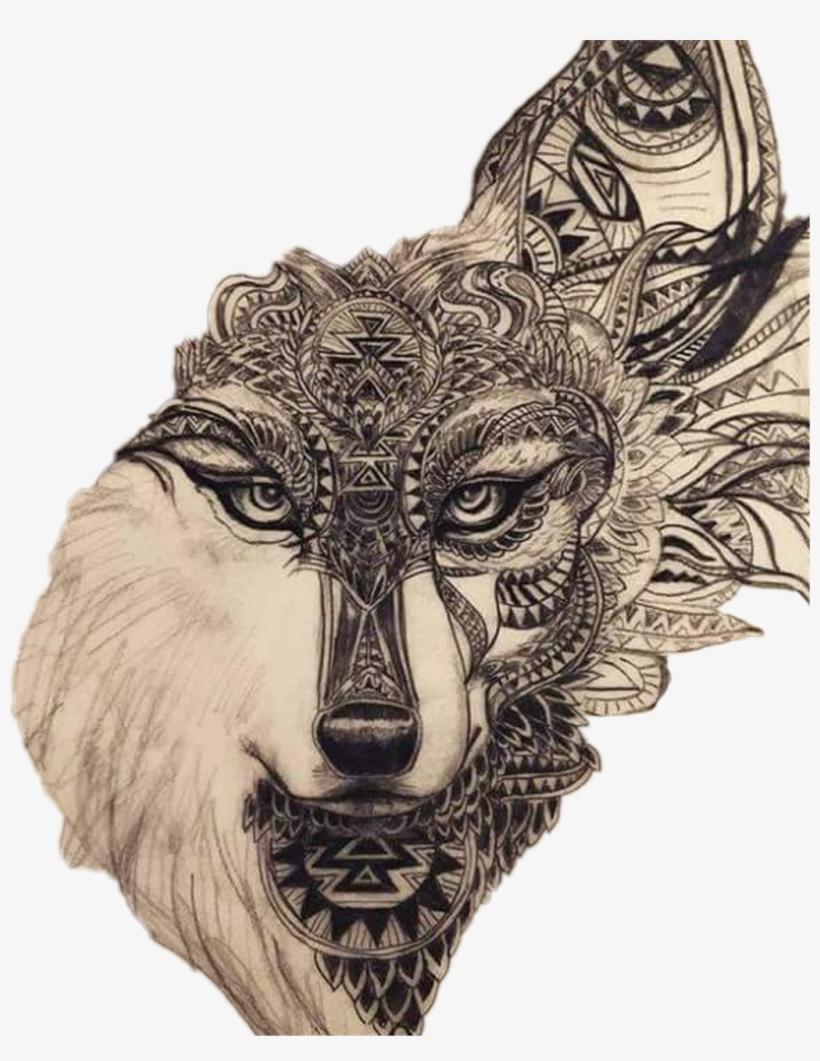 983b0282d Wolf Sticker - Ideas Leg Tattoo Drawing Transparent PNG - 1024x1276 ...