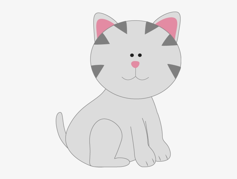 Gray Kitty Cat Clip Art Gray Cat Clip Art Transparent Png 434x538 Free Download On Nicepng