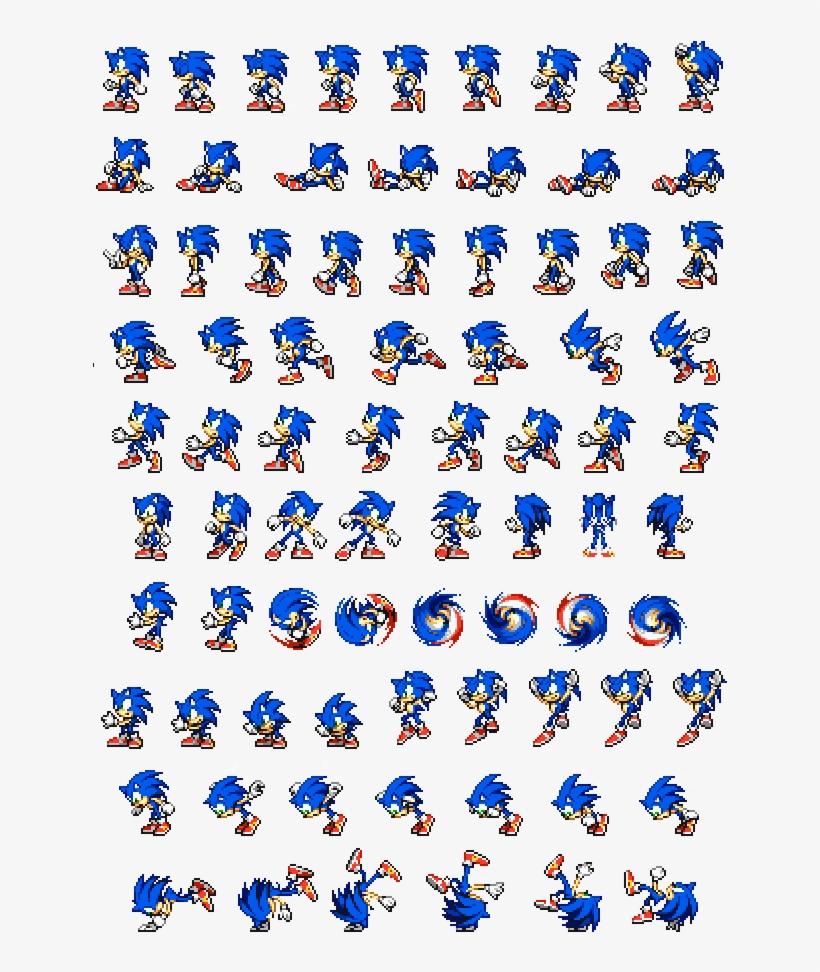 Sprites Sonic Sega Animação Animation - Modern Sonic Advance Sprites