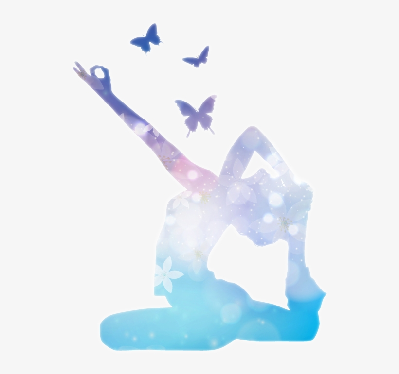 Unique Butterflies Glowing Yoga Logo Design Hd Png Transparent Background Yoga Png Transparent Png 800x746 Free Download On Nicepng