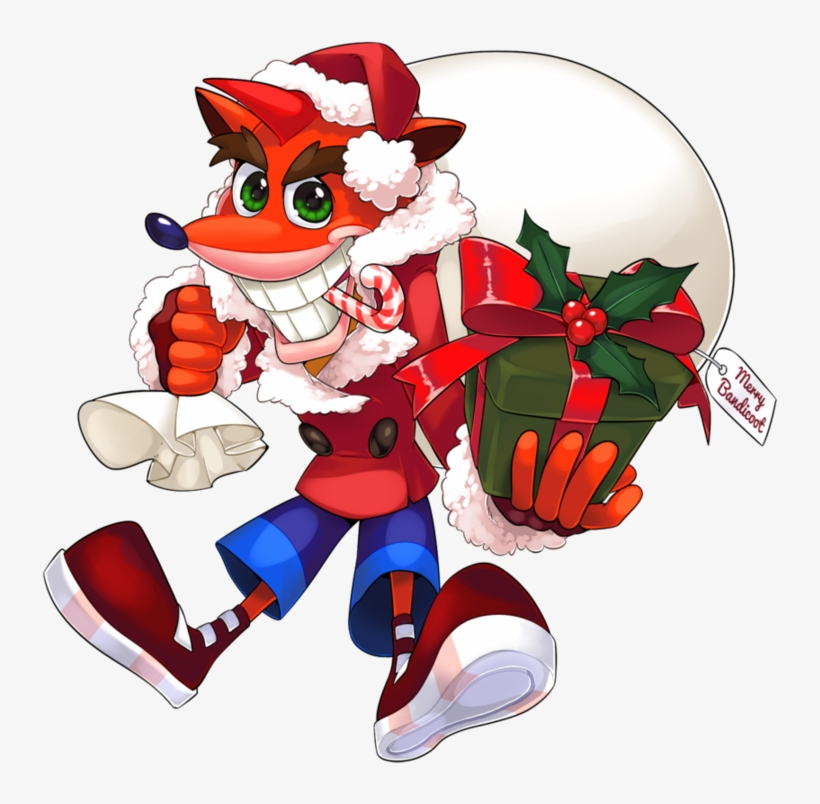 Crash Bandicoot Christmas.View Samegoogleiqdbsaucenao Merry Bandicoot By Yapwee