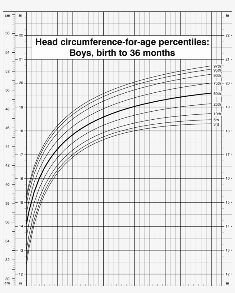 Head Circumference For Age Percentiles, Boys, Birth   Head ...