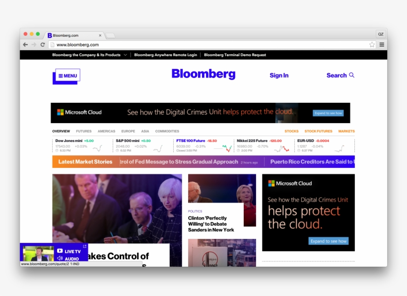 """Same Bloomberg, Less """"business"""" - Bloomberg Site Redesign"""