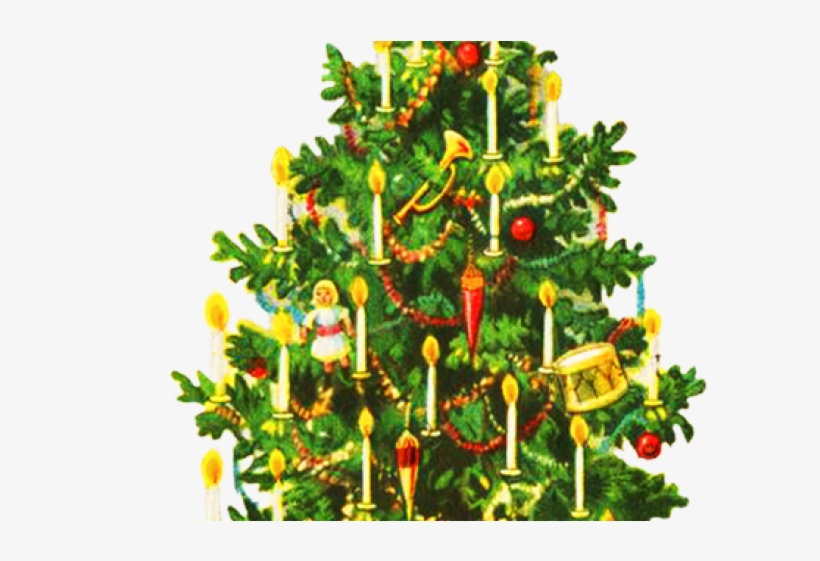 Christmas Tree Clipart Old Fashioned - Public Domain Vintage