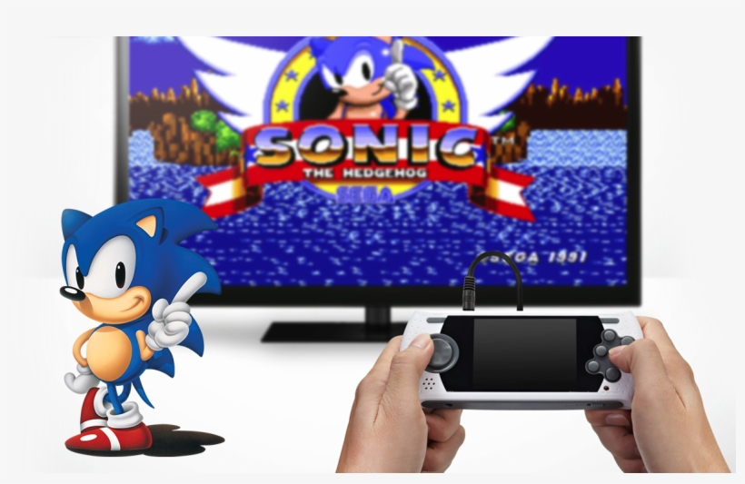Sega Megadrive Wireless Console Sonic The Hedgehog Facebook Covers Transparent Png 1206x726 Free Download On Nicepng