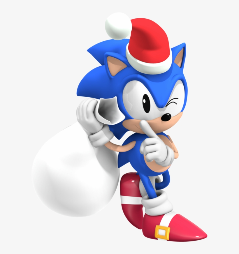 Classic Sonic The Hedgehog Christmas Transparent Png 894x894 Free Download On Nicepng