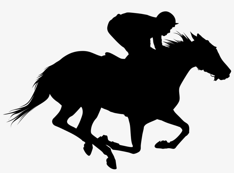 Clip Transparent Library Horse Silhouette Big Image - Race