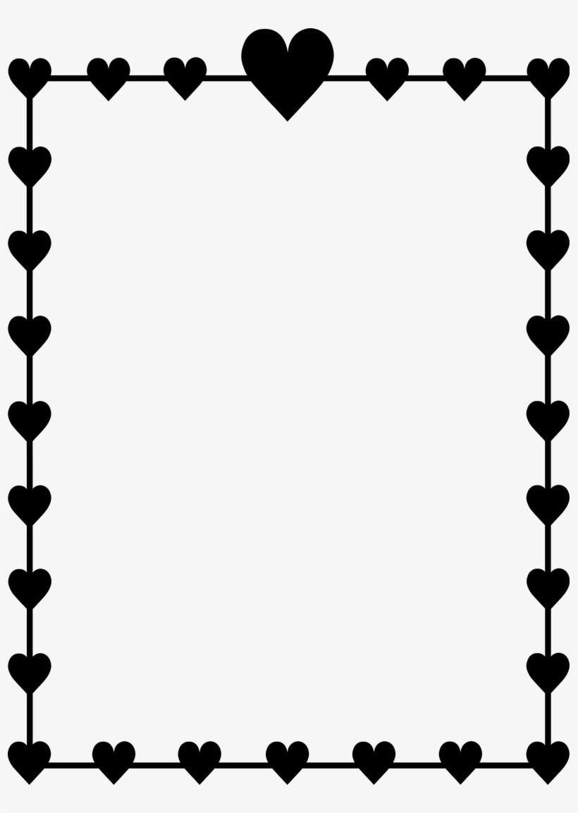 Download Hd Frame Svg Jpeg Heart Border Black And White Clipart