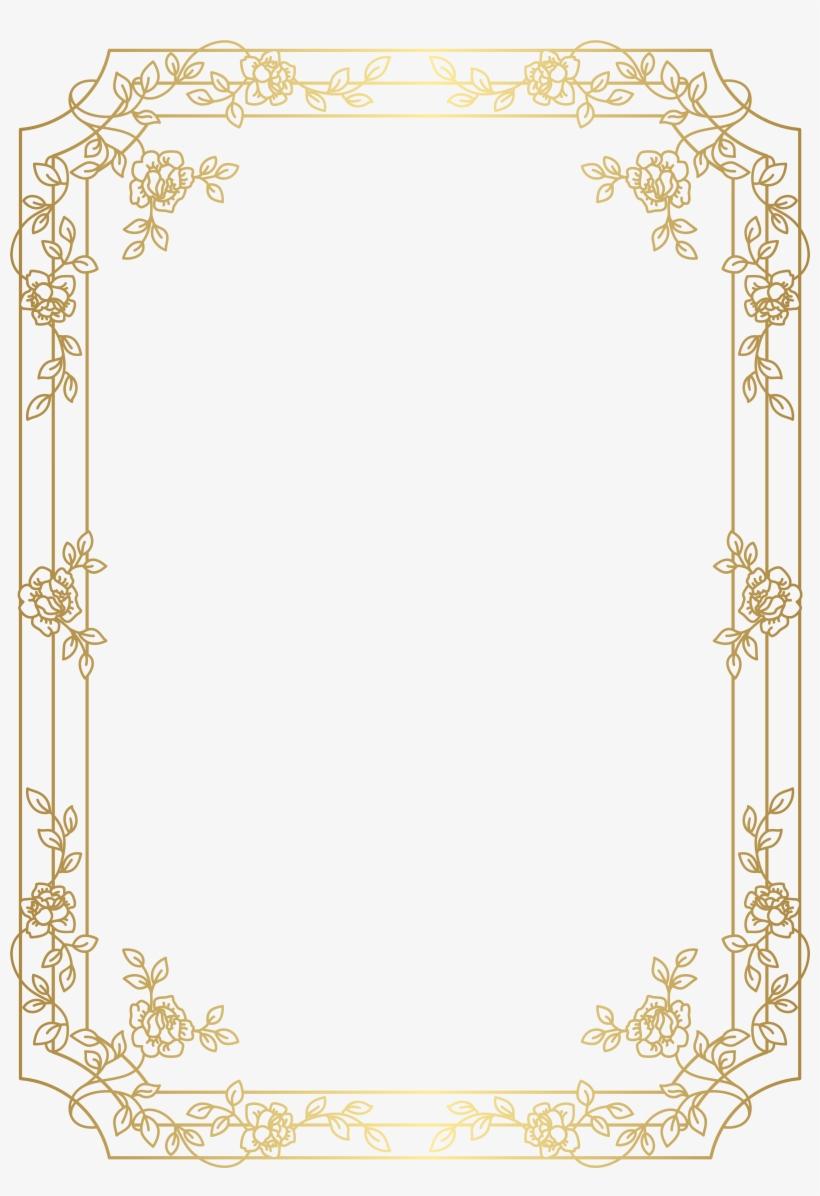 Deco Border Frame Png Clip Art Art Deco Frame Png Transparent Png