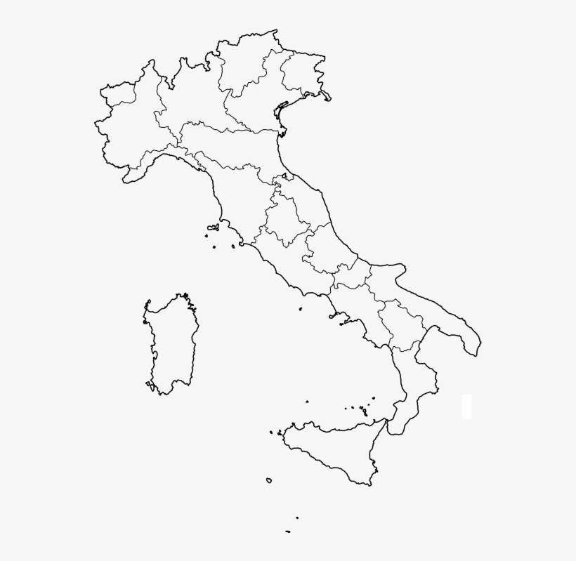 Map Showing Regions Of Italy.Italy Map With Regions Ancona Province Italy Map Transparent Png