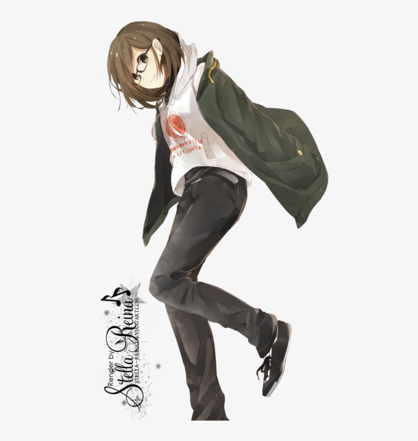 Short Brown Haired Anime Girl Transparent Png 500x785 Free