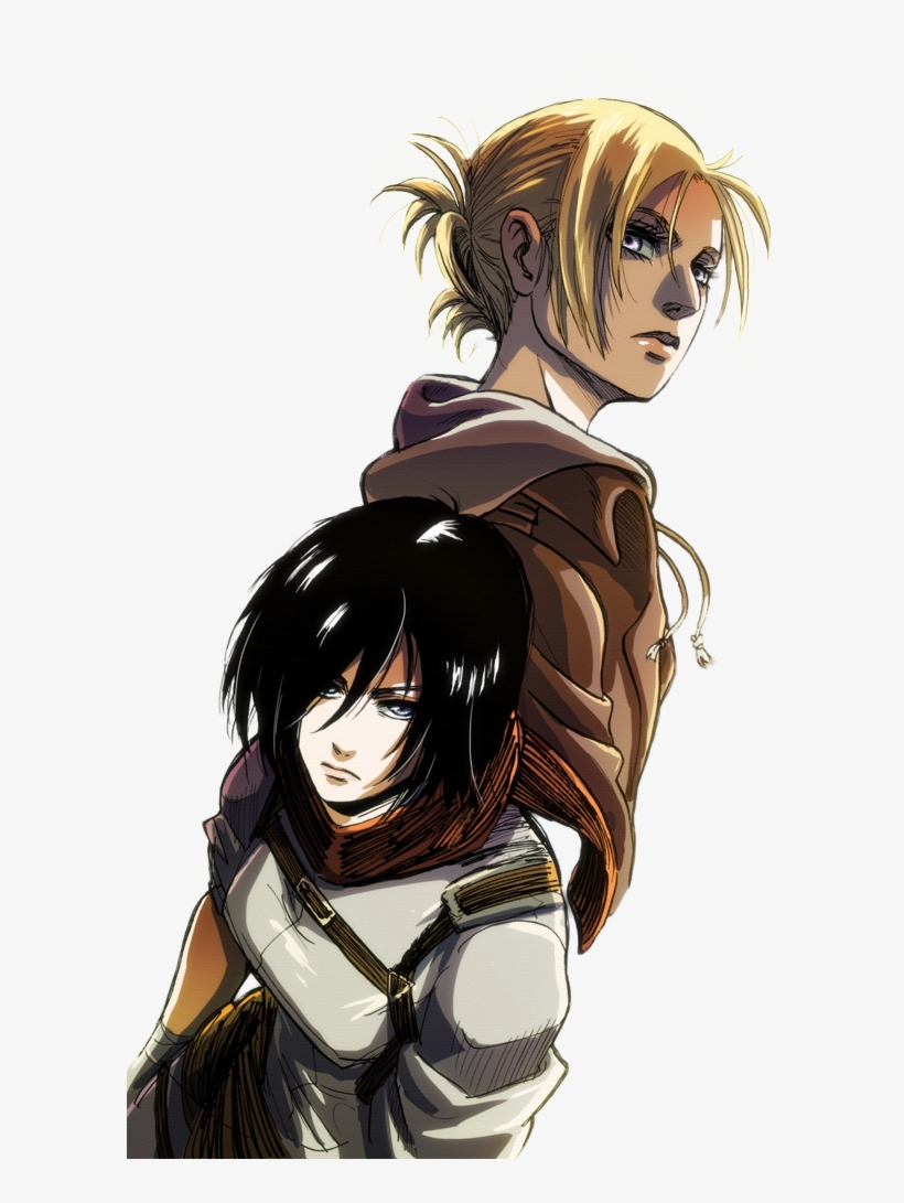Mine Anime Success Transparent Snk Shingeki No Kyojin Annie And Mikasa Aot Transparent Png 600x1010 Free Download On Nicepng