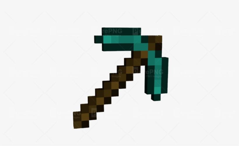 Mincraft Diamond Pick Axe Minecraft Diamond Pickaxe Png