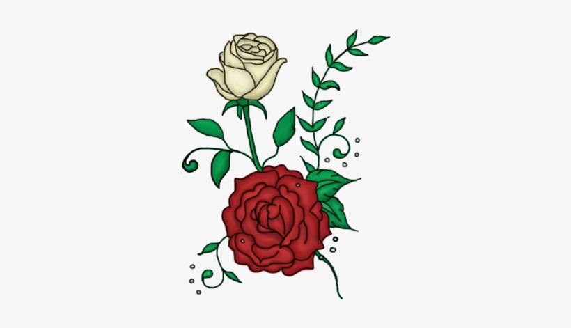 Twin Roses Design By Rose Design Tattoo Png Transparent Png