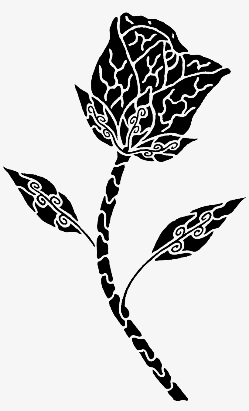 Tribal Rose Tattoo Design Transparent Png 1406x2078 Free