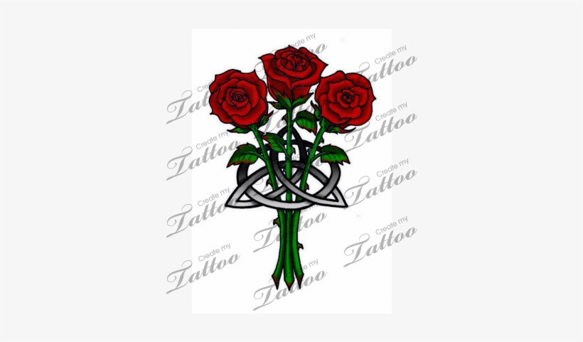 Rose Tattoo Clipart Entwined Celtic Knot Transparent Png 400x400