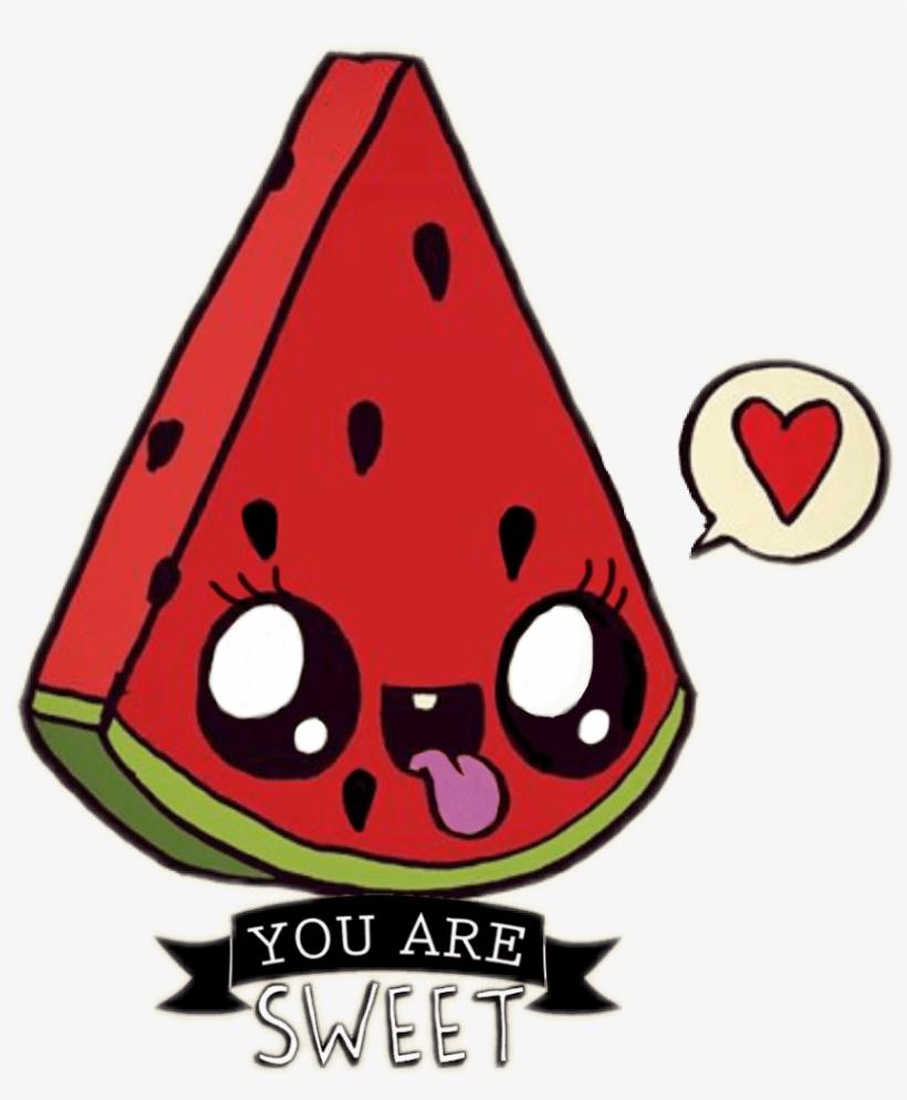 Ftewatermelon Sandia Kawaii Sandiakawaii Watermelon Kawaii