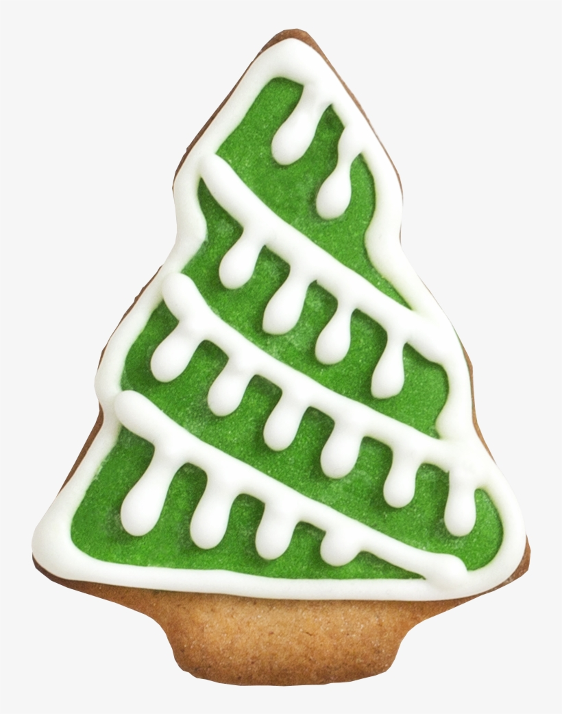 Peppermint And Candy Cakes Tree Cookie