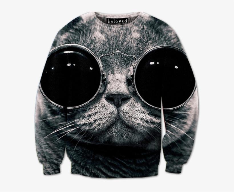 Cool Cat Crewneck Sweatshirt Fond D écran Hd Swag