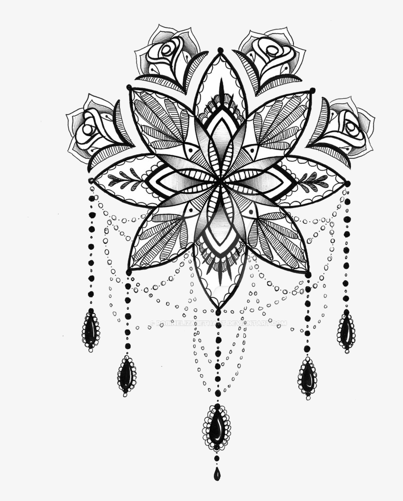 87699fcc09498 Tattoo Mandala Henna Drawing Free Hd Image Clipart - Mandala Dream Catcher