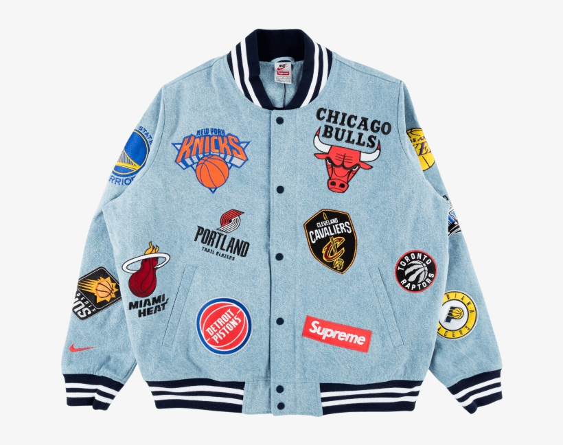 Supreme Nike Nba Jacket Transparent Png 1000x600 Free Download On Nicepng