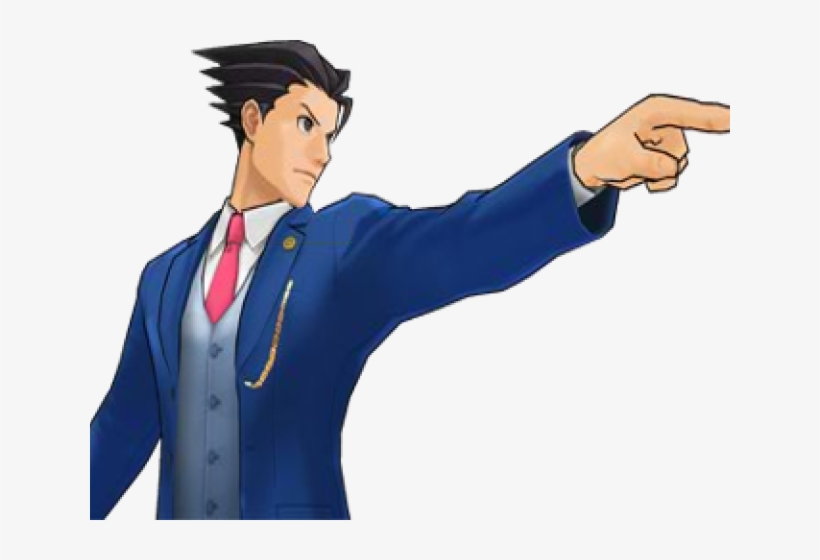 Ace Attorney Clipart Objection Phoenix Wright Objection Png