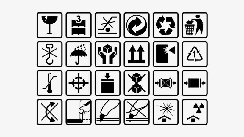 Beaches] Packaging symbols free vector
