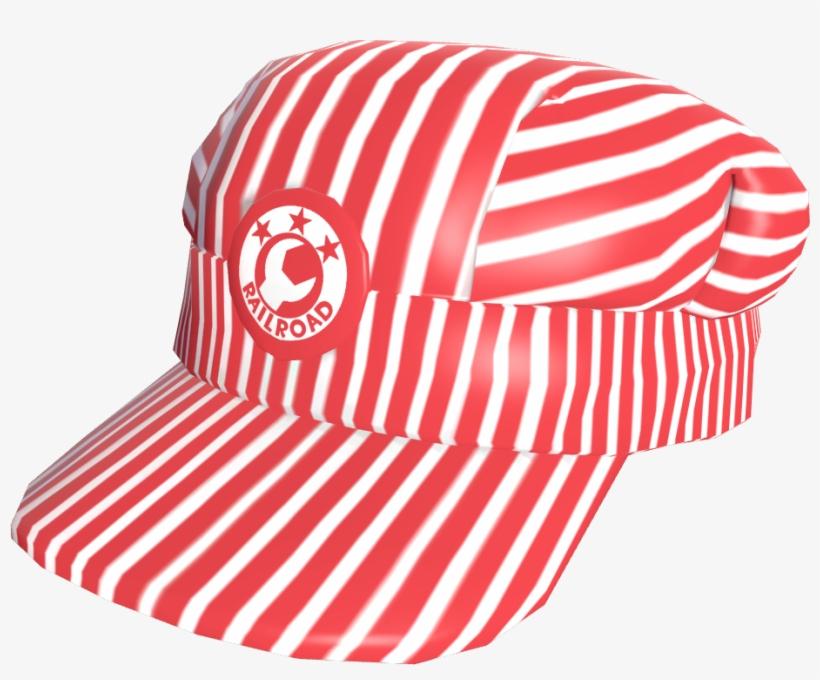 Engineer s Cap Red Tf2 - Red Train Conductor Hat Transparent PNG ... de9d9c2d8f7d