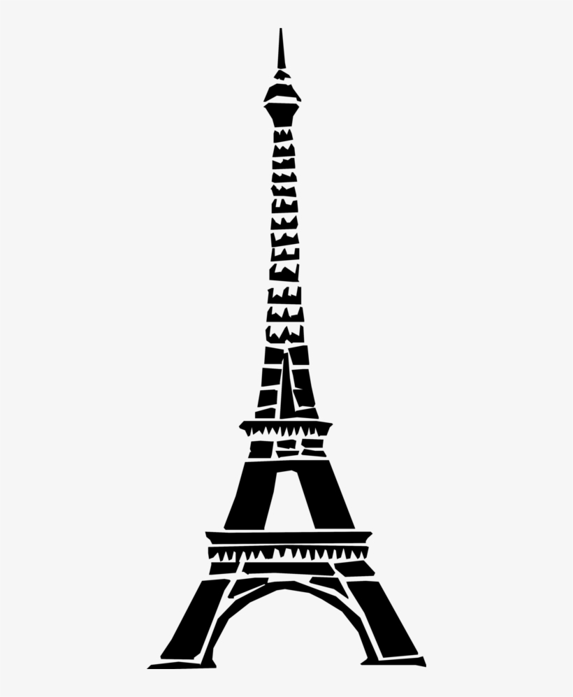 Art Black And White Paris France Eiffel Tower Black Eiffel Tower Drawing Transparent Png 400x917 Free Download On Nicepng