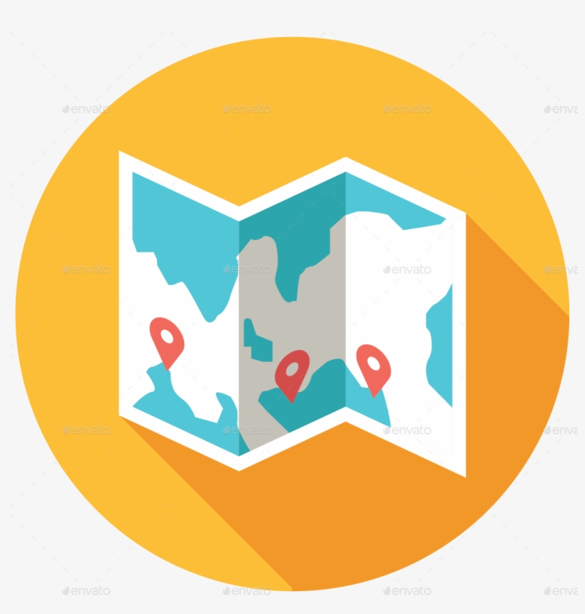 Map Icon - Flat Map Icon Png Transparent PNG - 1067x1067