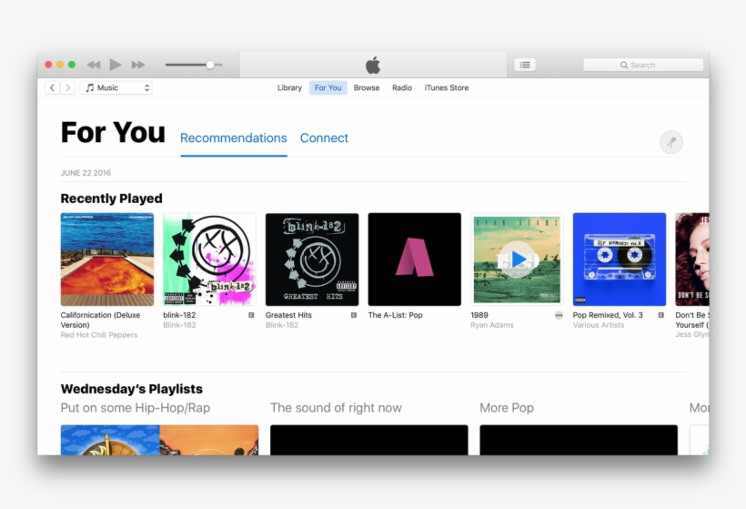Apple Music Refresh - Web Page Transparent PNG - 1200x762