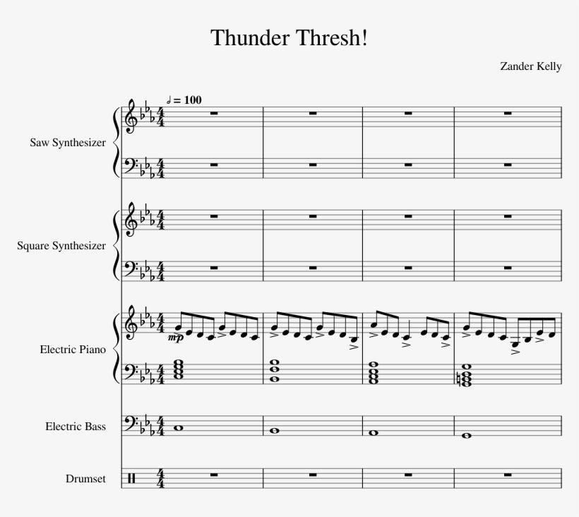 Thunder Thresh Theme Song - Sheet Music Transparent PNG