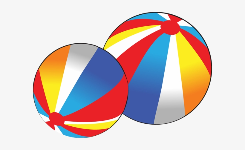 Red and Blue Stripes Fabric Beach Ball