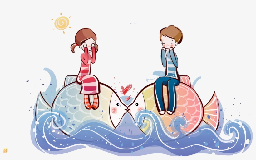 Cartoon Couple High Definition Television Drawing Wallpaper