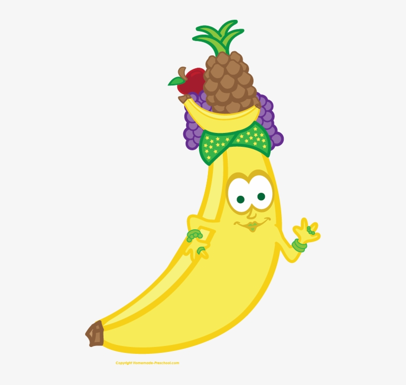 Pineapple Clipart Banana - Cute Transparent Background ...