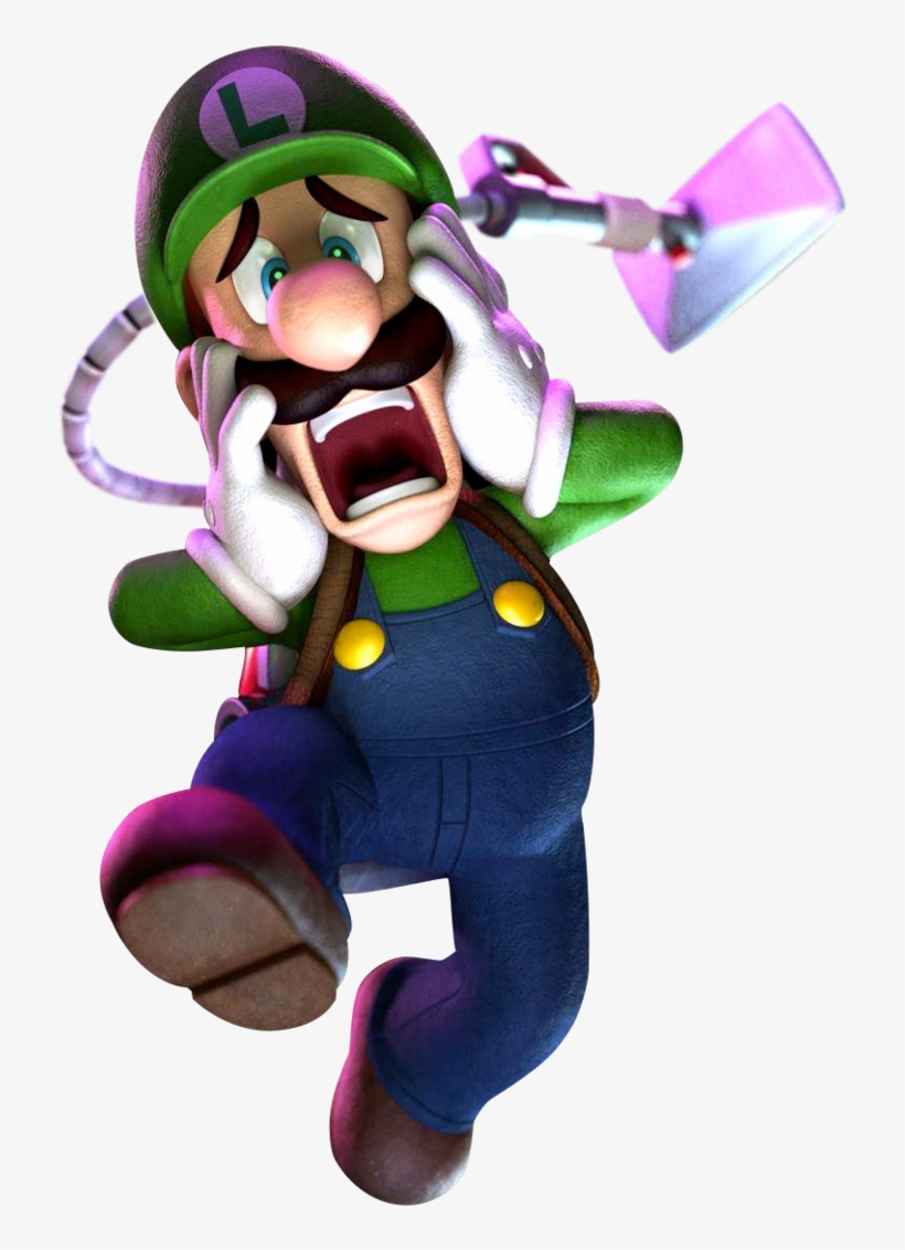 Luigi Clipart Scared Luigi S Mansion Dark Moon Transparent Png