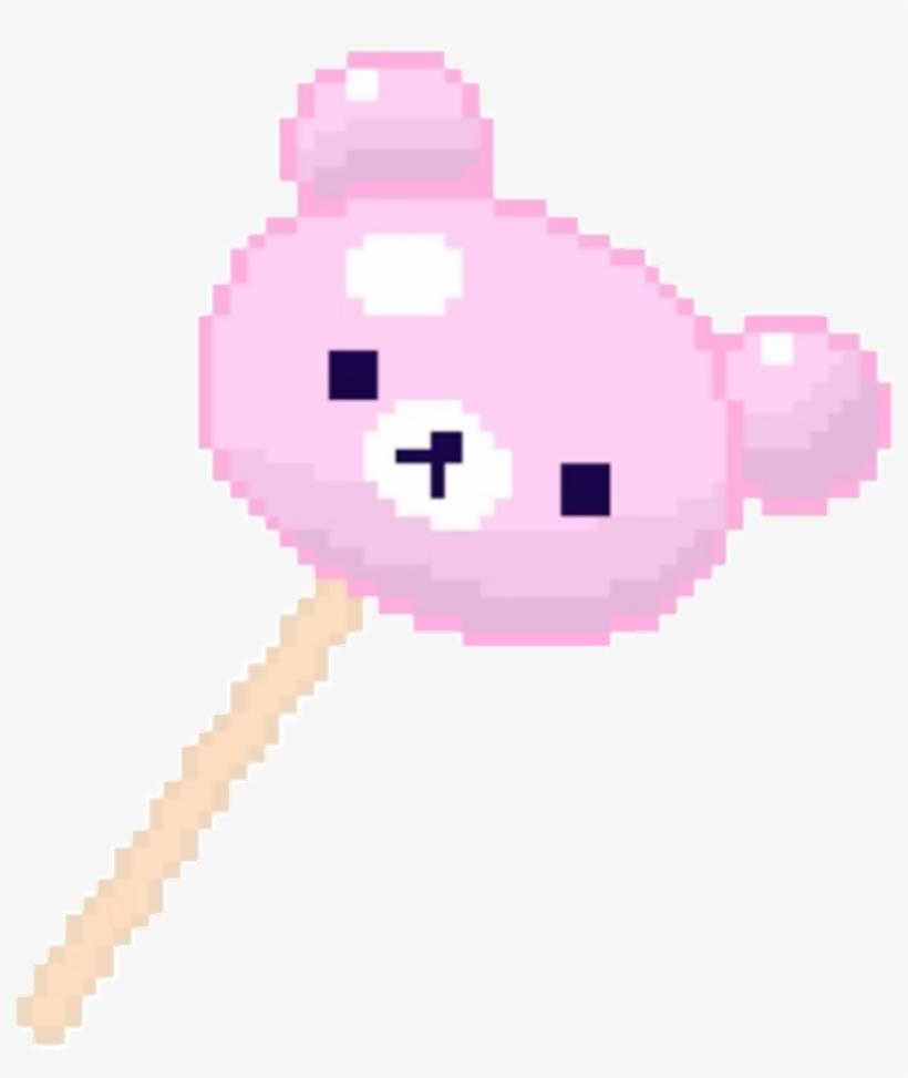 Pixelated Bear Lollipop