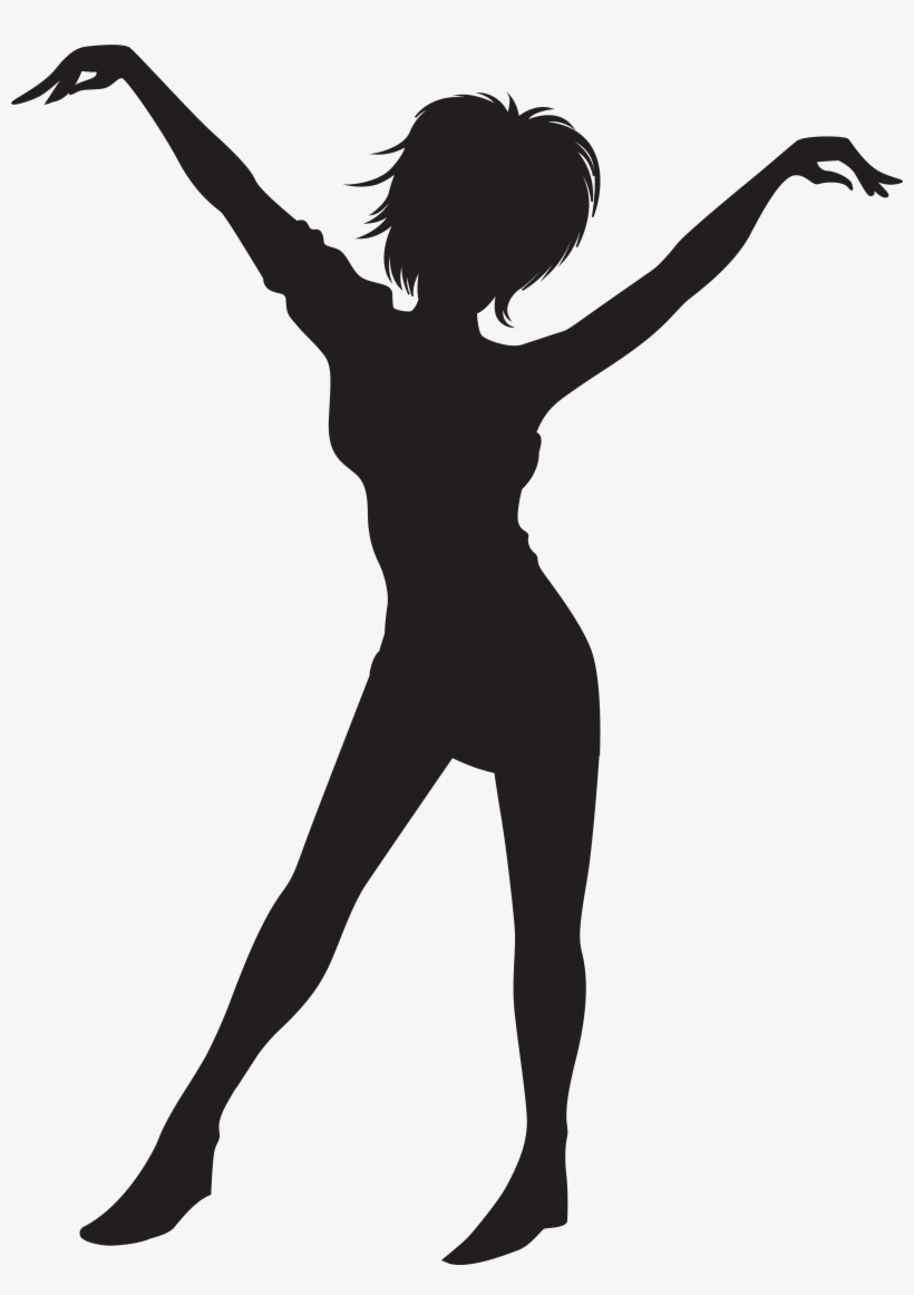 Clipart Black And White Library Dancing Girl Silhouette Dancing Girl Silhouette Jpg Transparent Png 5841x8000 Free Download On Nicepng