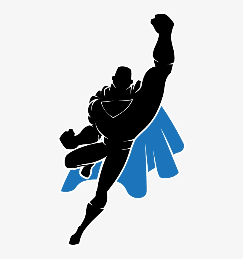 Silhouette Clipart Superhero - Flying Superman Silhouette ...