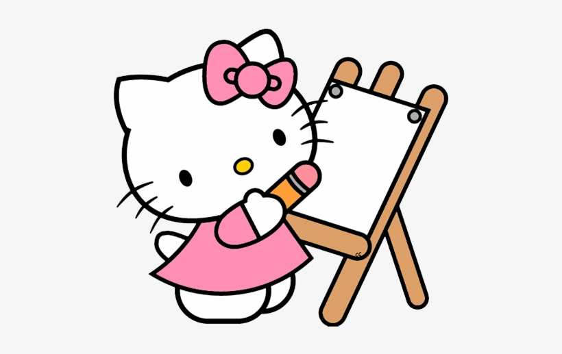 Hello Clip Art Cartoon Drawing Clipart Hello Kitty Png Transparent Png 500x444 Free Download On Nicepng