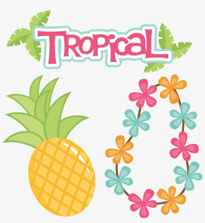 Clipart Pineapple Tropical Topo De Bolo Tema Tropical Para