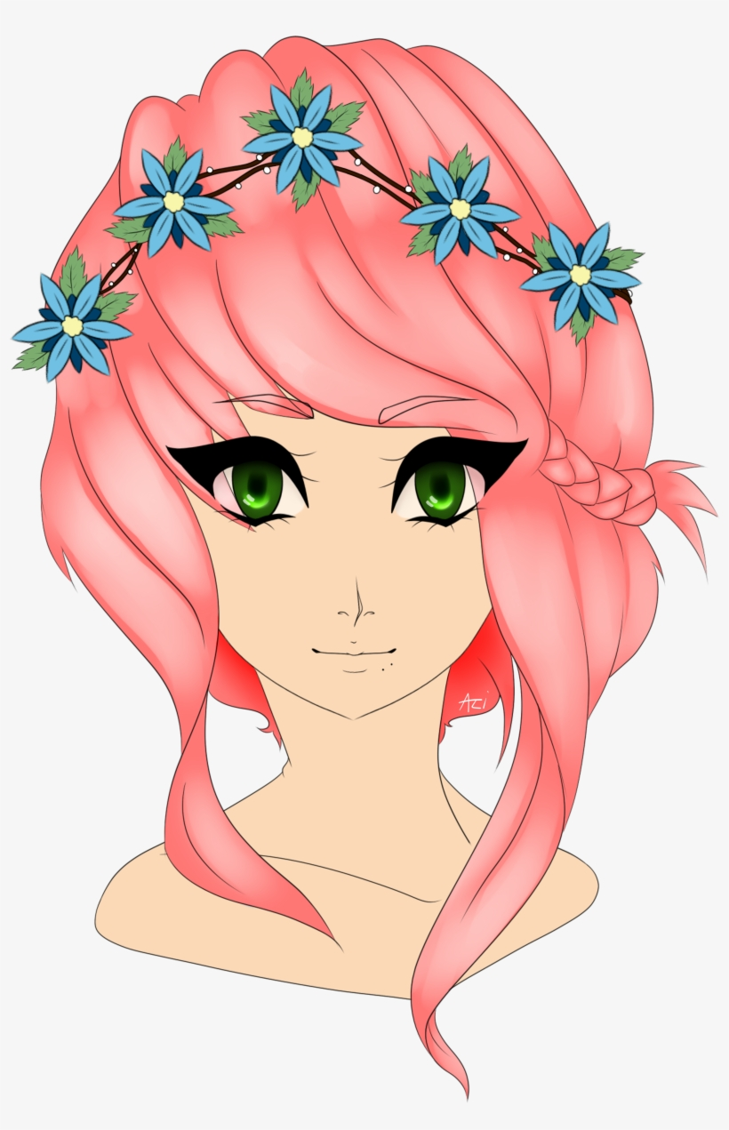 Download Flower Crown Drawing Png Png Gif Base