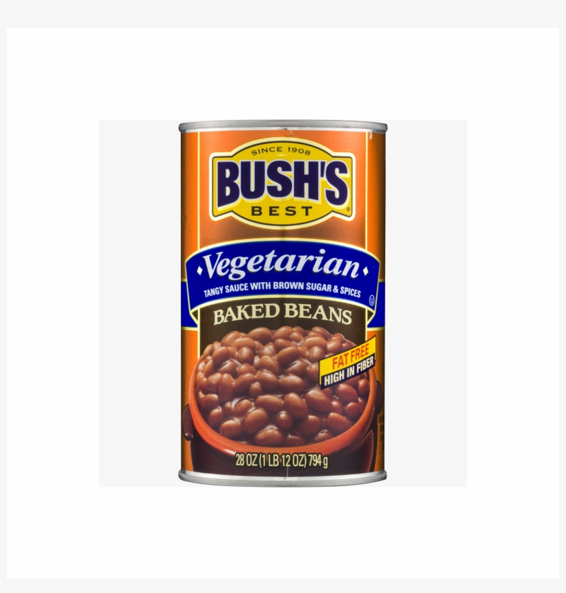 Bush S Best Vegetarian Fat Free Baked Beans Bush S Baked Beans Can Transparent Png 2048x2048 Free Download On Nicepng