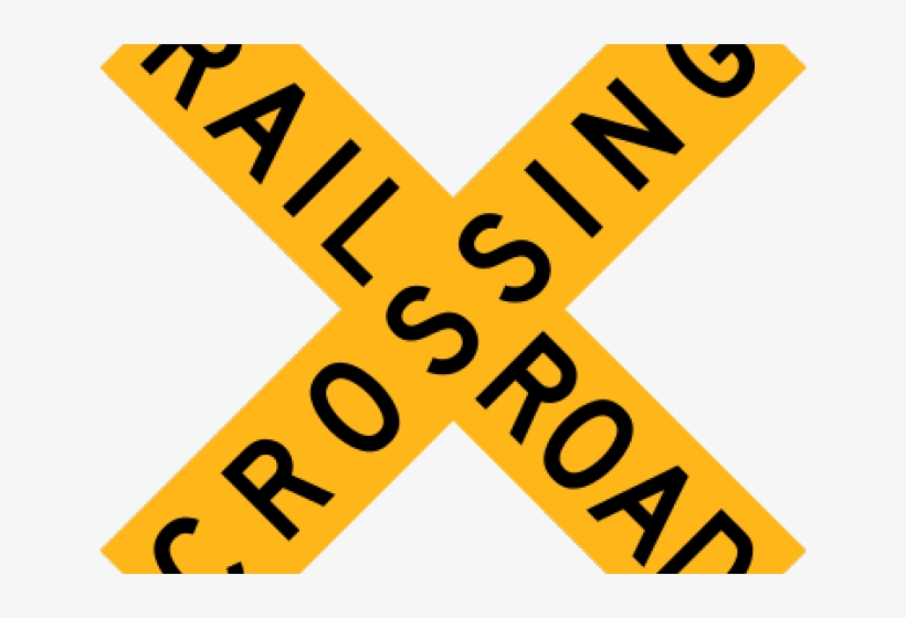 image regarding Railroad Crossing Sign Printable named Signal Clipart Coach - Railroad Crossing Indicator Clear PNG