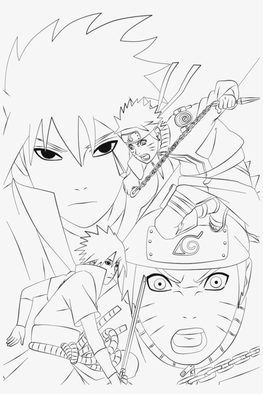 Coloriage Naruto Akatsuki Papedelca Com   Naruto Vs Sasuke Line ...