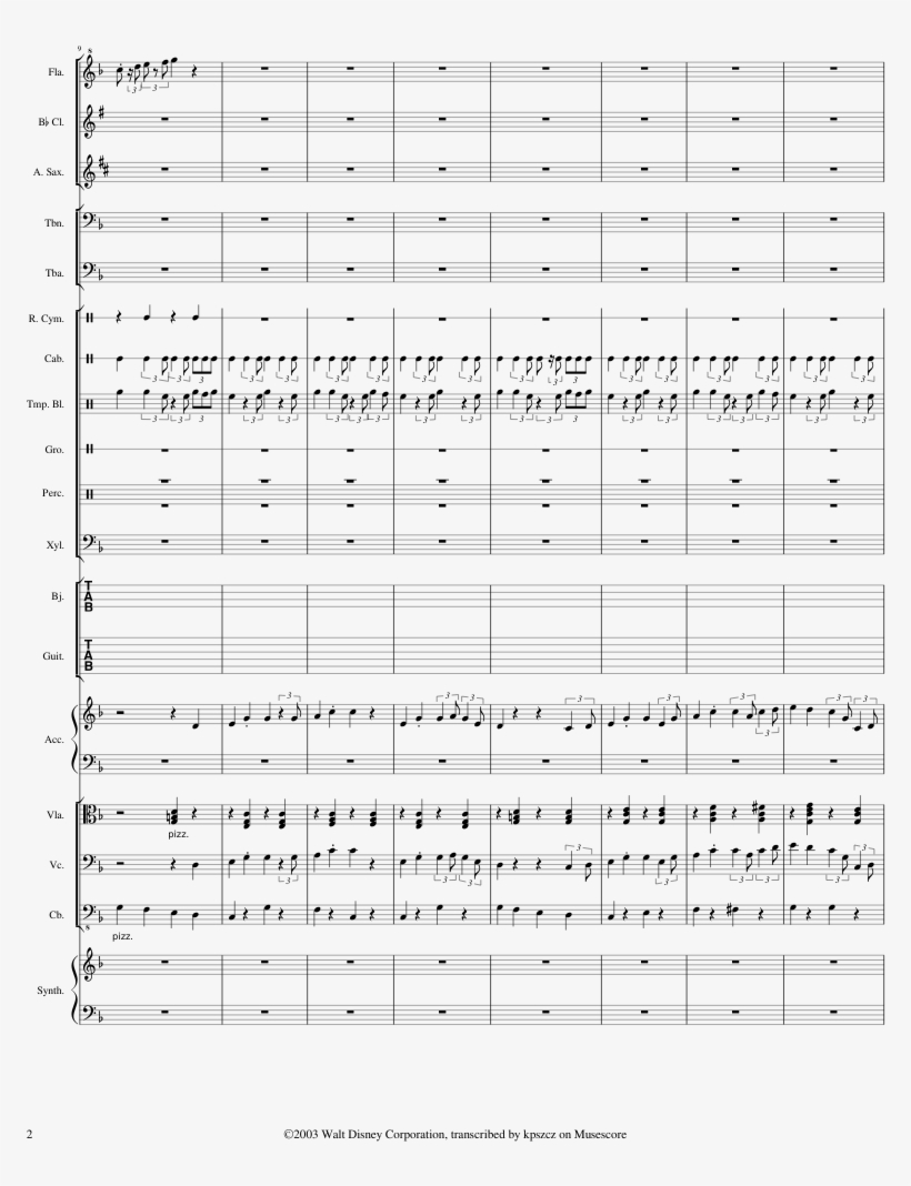 Toontown Online Theme Sheet Music Composed By Jamie - Number