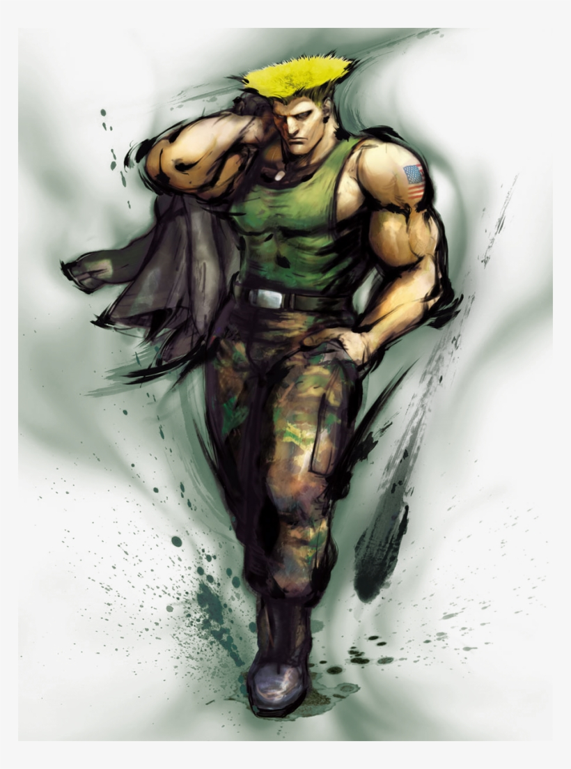 Guile Street Fighter Iv Transparent Png 768x1024 Free Download