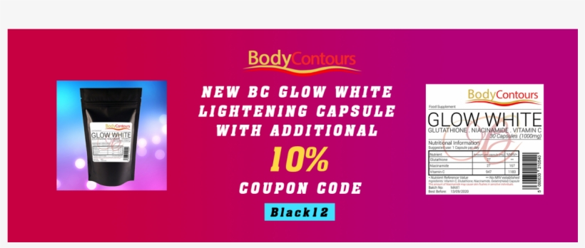 New Bc Glow White Lightening Capsule With Coupon Code Banner Transparent Png 1170x696 Free Download On Nicepng
